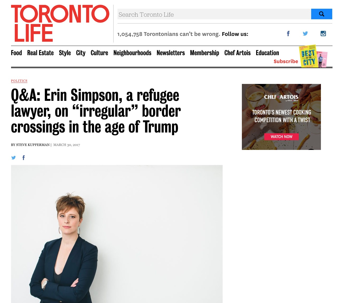"Erin Simpson – Q&A with a refugee lawyer, on ""irregular"" border crossings in the age of Trump"