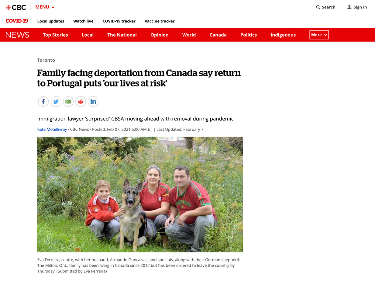 Jackie Swaisland - Family facing deportation from Canada say return to Portugal puts 'our lives at risk'