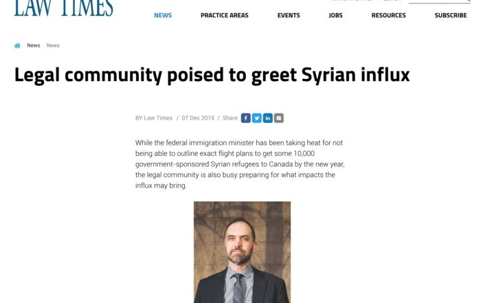 Jacqueline Swaisland – Legal community poised to greet Syrian influx