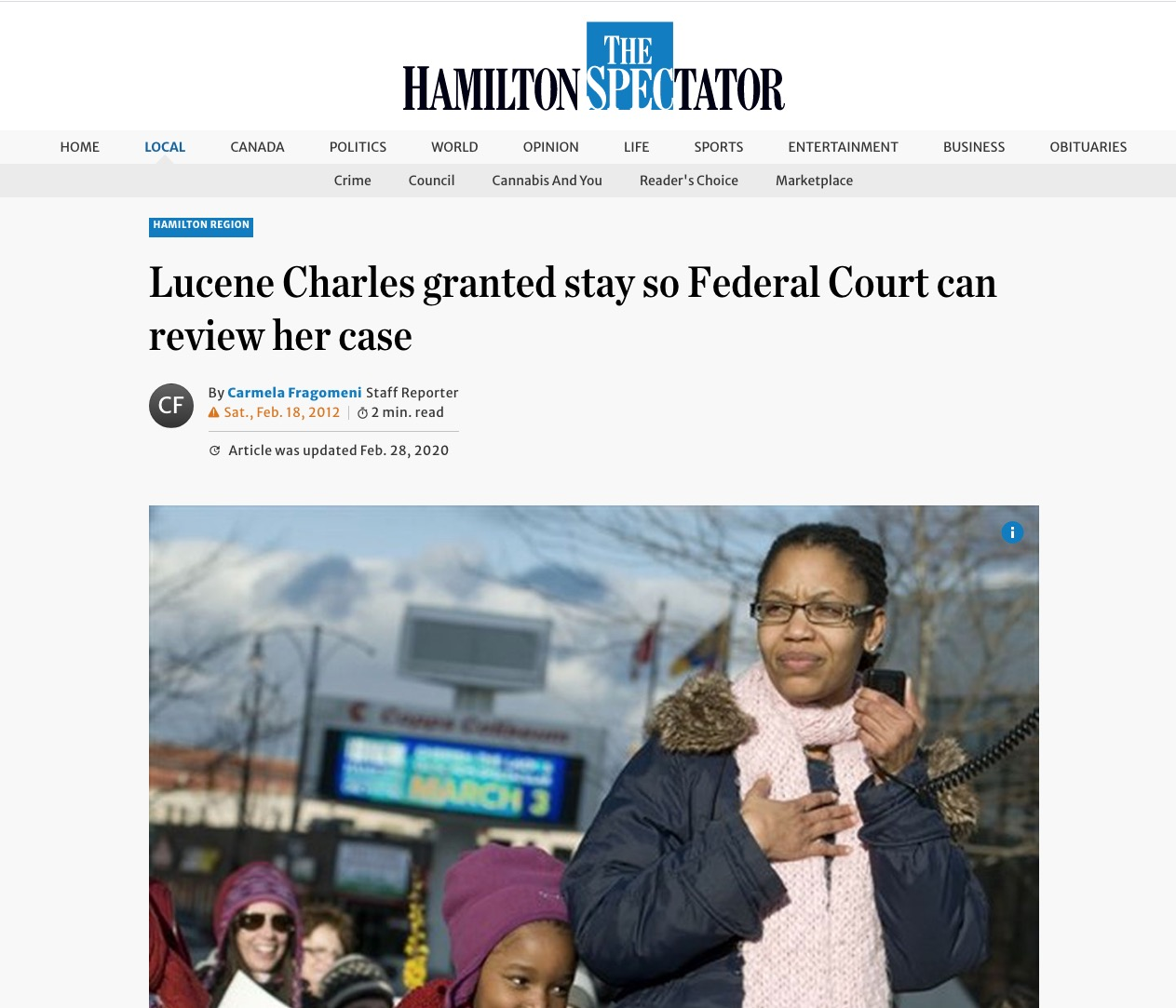 Jacqueline Swaisland – Lucene Charles granted stay so Federal Court can review her case