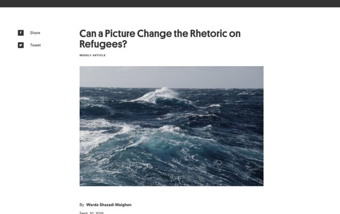 Warda Shazadi Meighen – Can a Picture Change the Rhetoric on Refugees
