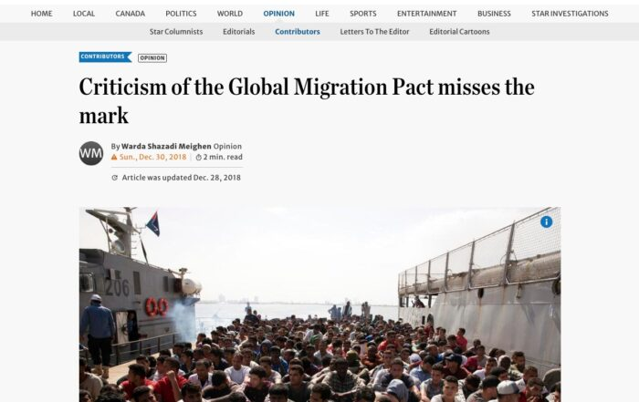 Warda Shazadi Meighen – Criticism of the Global Migration Pact misses the mark