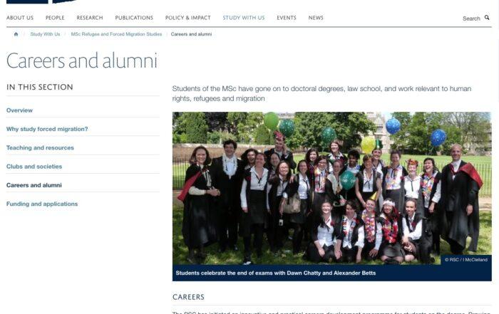 Warda Shazadi Meighen – Oxford University Refugee Studies Centre Alumni