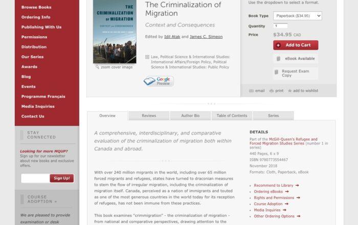 Warda Shazadi Meighen – The Criminalization of Migration